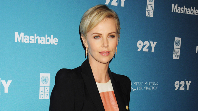 Mandatory Credit: Photo by CCN/REX/Shutterstock (5189313e) Charlize Theron Social Good Summit, New York, America - 28 Sep 2015